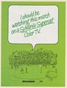 1980 I Should be Watching This Golf Match on Sylvania Superset Color TV Print Ad