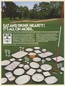 1980 Mobil Chemical Plastic Plates Cups Tumblers Golf Course 62nd PGA Print Ad