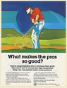 1980 What Makes the Pros So Good Golfer art Marine Midland Bank Print Ad