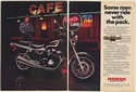 1982 Honda Nighthawk 750 Motorcycle Man at Rosie's Cafe 2-Page Print Ad