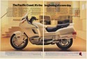 1989 Honda Pacific Coast Motorcycle It's the Beginning of a New Day 2-Page Ad