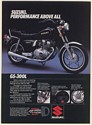 1982 Suzuki GS-300L Motorcycle Performance Above All Print Ad
