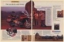 1987 Suzuki Cavalcade LXE Motorcycle Navajo Indian Ride for Many Moons 2-Page Ad
