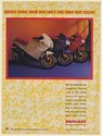 1987 Ducati Paso Motorcycle White Blue Red Colors Print Ad