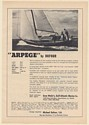 1969 Arpege by DuFour 30' Sailboat Boat Photo Print Ad