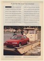 1993 Mazda 626 ES on Ferry Boat A Car for the Road Less Traveled Print Ad