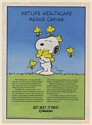 1993 Snoopy Woodstock MetLife Healthcare Means Caring Schulz art Print Ad