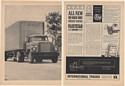 1963 IH International Harvester Fleetstar Series 1900 2000 Truck 2-Page Print Ad