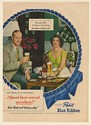 1949 Mrs & Mrs F Warren Pershing in Narragansett Home Pabst Blue Ribbon Beer Ad