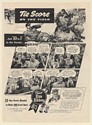 1941 Pabst Blue Ribbon Beer Blended 33 to 1 Tie Score on Baseball Field Print Ad