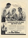 1940 Pabst Blue Ribbon Beer 33 to 1 Wins at the 19th Hole Golfers Print Ad
