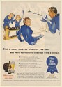 1944 Pabst Blue Ribbon Beer Ribbon People Bowling Mrs Carruthers Strike Print Ad