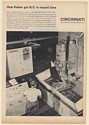 1964 Kaiser Cincinnati Milling Machine HyroTel Acramatic 3000 Contouring Sys Ad