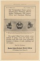 1910 Haskell Post-Graduate Dental College Correspondence Regular Course Print Ad