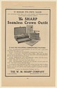 1910 W M Sharp Seamless Crown Outfit Dental Industry Trade Print Ad