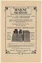 1910 Dentone Oxygen Treatment Abscessed Teeth Root Canal Dental Trade Print Ad