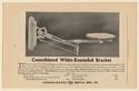 1910 Consolidated Dental White-Enameled Bracket Dental Industry Trade Print Ad