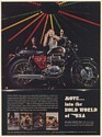 1968 BSA Lightning Motorcycle at Cheetah Venice California Print Ad