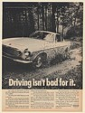 1968 Volvo 1800S Driving Isn't Bad For It Drive in Mud Puddle Print Ad