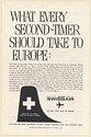 1959 SwissAir Airlines What Every Second-Timer Should Take to Europe Print Ad