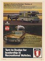 1973 Dodge Mini Motor Home Big Dodge Towing Airstream Travel Trailer Print Ad