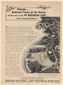 1949 Chicago Railroad Fair Lakefront Aerial View Print Ad