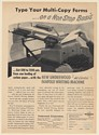 1949 Underwood All Electric Fanfold Writing Machine Print Ad