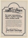 1978 Fairfield Savings Bank 8301 W Lawrence Northwest Chicago Print Ad