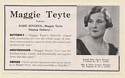 1939 Maggie Teyte Opera Soprano Photo Booking Print Ad