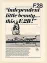 1968 Fokker F.28 Aircraft Captain Moll Chief Test Pilot Independent Beauty Ad
