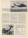 1968 Sikorsky CH-53A Medium Helicopter for German Armed Forces 3-Page Article