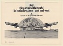 1972 TMA All Cargo Round the World Airline Flies East and West Print Ad