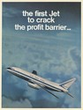 1969 Dassault Mercure Aircraft First Jet to Crack Profit Barrier 3-Page Print Ad