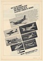 1971 SIAI Marchetti SF260MX SM1019 S210 S208M S208 SV20 S205 Aircraft German Ad