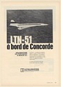 1971 BAC Aerospatiale Concorde Aircraft Litton LTN-51 Navigation French Print Ad