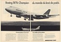 1971 Boeing 747B Aircraft 2-Page French Print Ad