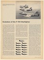 1967 Evolution of the F-104 Starfighter Aircraft Specifications 4-Page Article
