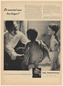 1947 Prudential Insurance Do Married Men Live Longer Nude Boys Bathing Print Ad