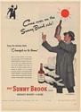 1947 Old Sunny Brook Whiskey Come Over on the Sunny Brook Side Stan Klimley Ad