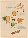 1947 Life Savers Candy For Five Little Indians Five Big Hits 5 Flavors Print Ad