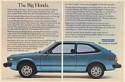 1978 Honda Accord The Big Honda We Make It Simple 2-Page Print Ad