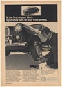 1966 MG Sports Sedan Be First on Your Block to Put Snow Tires on Front Wheels Ad