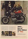 1968 BSA Thunderbolt Motorcycle Lady Riders Horse Guard Print Ad