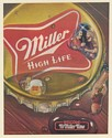 1983 Miller High Life Beer Large Bottle Cap Print Ad