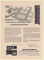1961 McDonnell TAPE Tape Automatic Preparation Equipment Punched Tape Machine Ad
