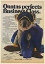 1982 Qantas Airlines Koala Perfects Business Class Print Ad