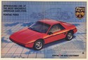 '83 1984 Red Pontiac Fiero Sport Coupe Introduction Blueprint Double-Page Ad