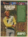 1987 Golfer Greg Norman ESPN The Total Sports Network Print Ad