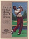 1987 Golfer Golf Pros Know Value of Good Follow Through Global Van Lines Ad