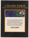1987 Caesars Tahoe The Glory The Grandeur The Games Print Ad